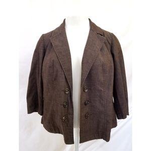 Dress Barn Jackets & Coats - Dressbarn Size 3X Brown Blazer
